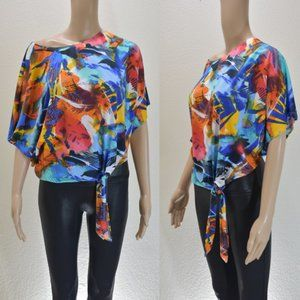 Annelee + Hope Colorful Side Knot Top